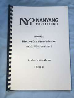 NYP Effective Oral Communication School of Business Management Eff Com Notes