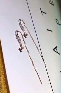 【925純銀】Fashion Silver Earrings 閃爍吊皇冠時尚純銀耳環