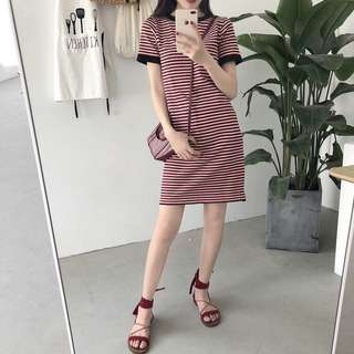 #463 Basic Stripe Dress (PO)