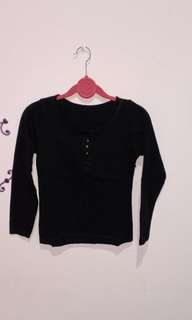 Long sleeve button black
