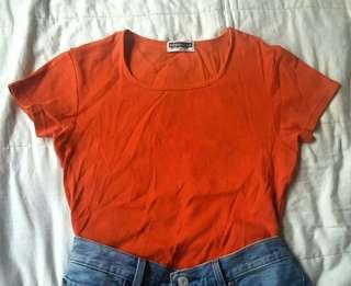 Giordano Orange Plain Shirt