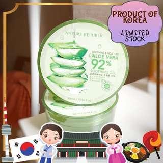 Aloe shooting gel import korea