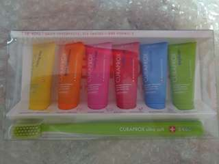 Curaprox toothbrush with toothpaste