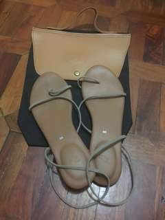 Suelas YOGI JEN sandals in Bone (with Suelas shoe bag)