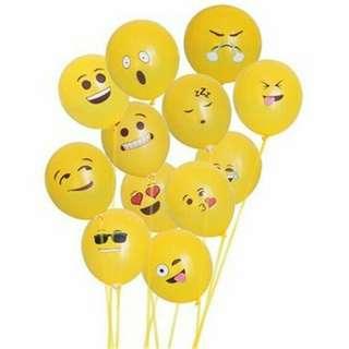 Balon Tiup Emoticon 100 PCS - Yellow