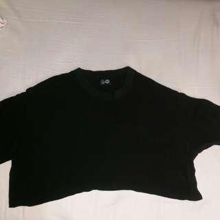 Cheap Monday Blouse crop hitam black