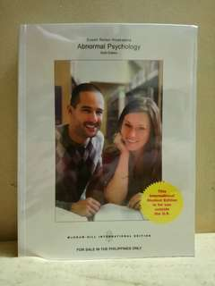 Abnormal Psychology 6th edition McGraw-Hill International Edition (original)