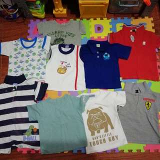 Take-all Shirts for toddler boys (1 to 2 years old)
