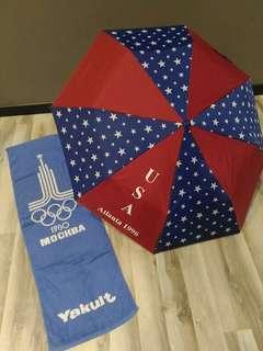 Olympic Umbrella & Gym towel