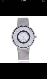 Beautiful Crystal Shiny Ladies Watch with Metal strap