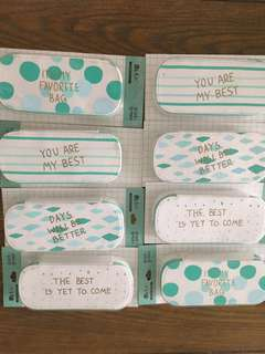 (BNIS) Mint Green Pencil Pouch / Cosmetic Bag