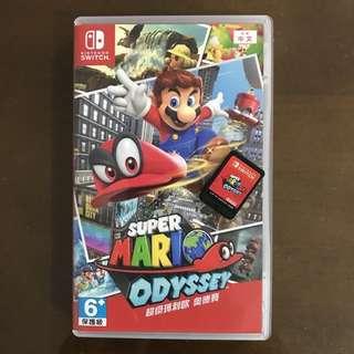Switch 遊戲  瑪莉歐 奧德賽 二手極新 (Mario Odyssey)