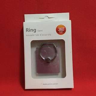 手機粉色素面方形指扣環