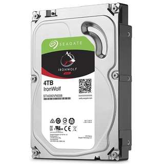"[PO] (BNIB) Seagate IronWolf NAS 4TB 5900rpm 3.5"" internal HDD #ST4000VN0008"