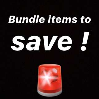 Bundle items and I'll discount !