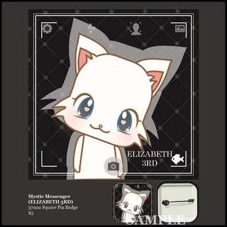 [INSTOCK] Mystic Messenger Square Pin Badge (ELIZABETH 3RD)