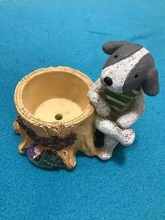 🚚 小狗造型盆栽裝飾