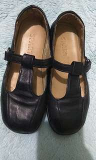 Black Leather Shoes size 2
