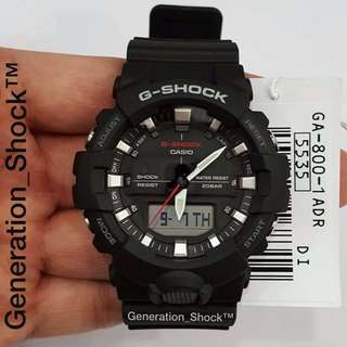 NEW🌟ARRIVAL CASiO GSHOCK WATCH :  1-YEAR OFFICIAL WARRANTY : ORIGINALLY AUTHENTIC G-SHOCK RESISTANT Designer by Official MUDMASTER COMPANY in DEEP BLACK STEALTH MATT with WORLD🌎TIME  Best For Most Rough Users & Unisex : GA-800-1ADR