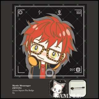 [INSTOCK] Mystic Messenger Square Pin Badge (SEVEN)