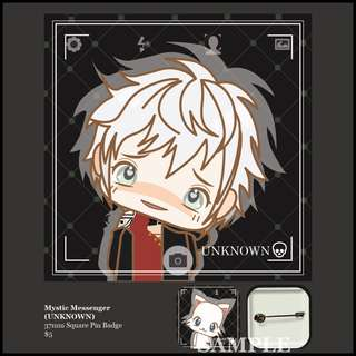 [INSTOCK] Mystic Messenger Square Pin Badge (UNKNOWN)