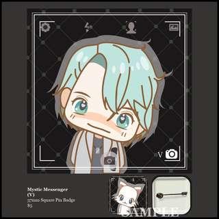 Mystic Messenger Square Pin Badge (V)