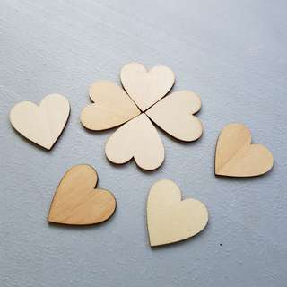 Wooden Heart Shape Piece