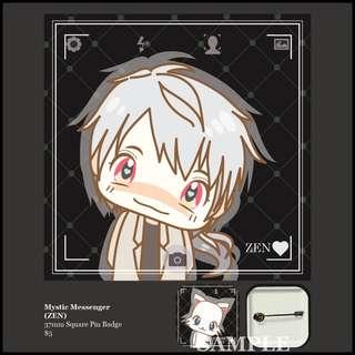 [INSTOCK] Mystic Messenger Square Pin Badge (ZEN)