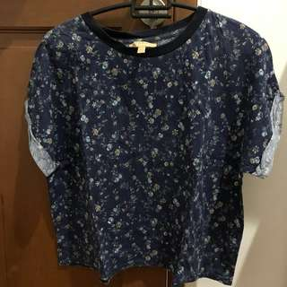 Preloved zara floral t shirt
