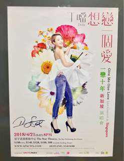 [Rolled Autograph Poster] Della丁噹 亲笔签名 海报 Autographed Poster