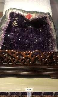 5A頂級esp烏拉圭紫晶洞 極少有土形 16.5kg 包風水師擇日搵財位度尺