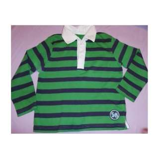 MOTHERCARE ~ Green Stripe T-SHIRT