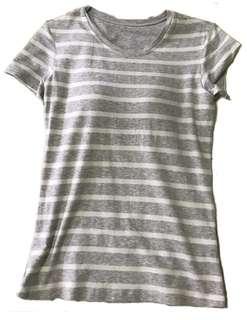 Uniqlo Striped T-shirt Bra Top