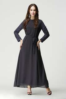 Lace Jubah with belt