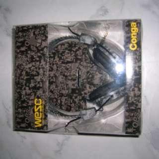 WeSC Conga Over Ear Ltd Ed Human Disorder DarkShadow Headphones Wesc