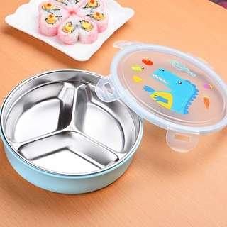 兒童不鏽鋼分格碗(可注水)