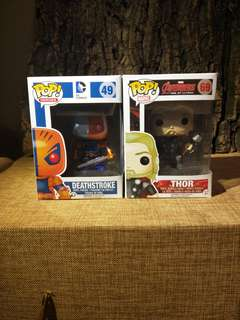 Funko Deathstroke and Thor