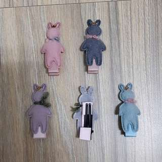 皇冠圍巾兔子髮飾【一對】