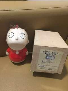 Sanrio Minna No Tabo 大口仔 1987 年 半睡眼人形陶瓷門鈴 (**有活動腳~非常罕有**) (Made in Japan)