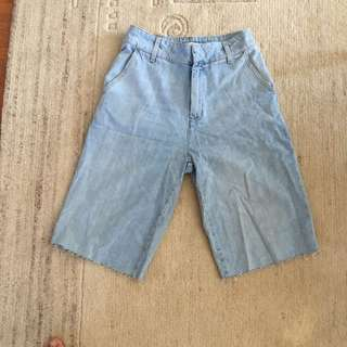 Zara long denim shorts