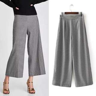 Women's leisure nine points wide leg pants pants