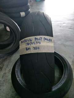 Tayar secondhand michelin pilot power 180/55/17