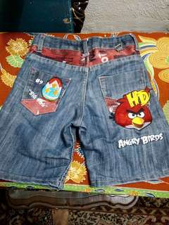 Angry Bird Denim Short 6yrs
