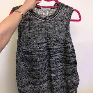 See By Chloe melange sleeveless knit top sz M
