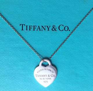 AUTHENTIC TIFFANY & CO Heart Tag Necklace / Pendant