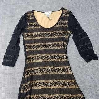 Max Studio Black Lace Dress
