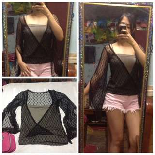 Mesh top with tube