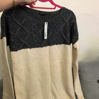 Theory knit sweater top sz M