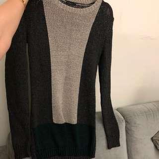 Theory knit sweater top dress sz S