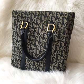 Vintage Dior tote bag with signature handle